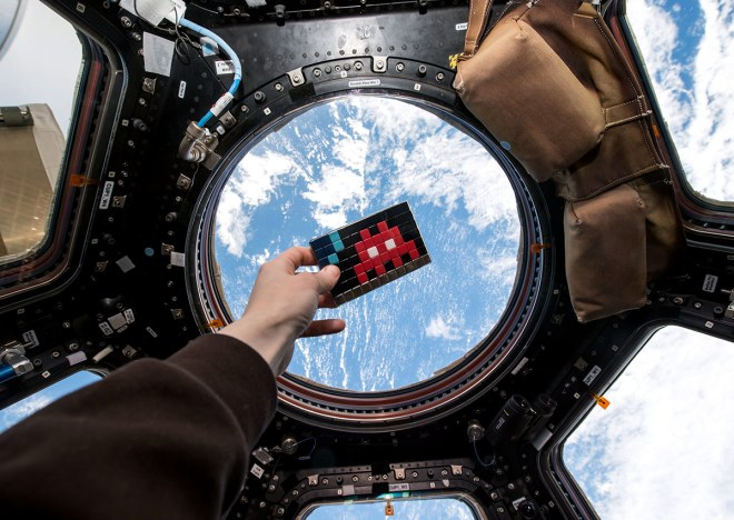 Invader street art, ISS International Space Station ->> cosmictravellerblog.com <<-