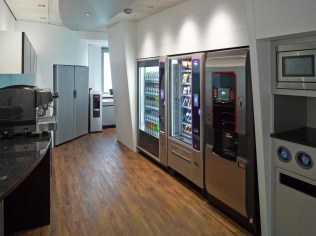 Image of office kitchen and vending area