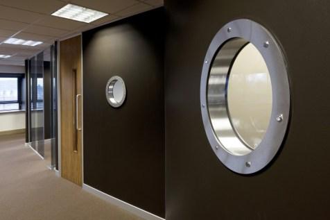 Image of Ogilvy 4D porthole window meeting room detail