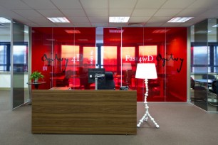 Image of Ogilvy 4D reception area with contemporary light feature