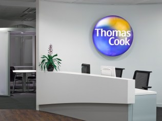 Image of Thomas Cook HQ reception desk