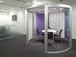 Image of Thomas Cook HQ office pod meeting room
