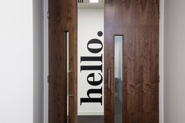 Image of London office doors