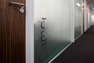 Image of office glass branding