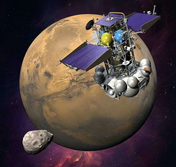 It almost made it! Artist's conception of the failed Phobos Grunt mission of 2011... [via space.com]