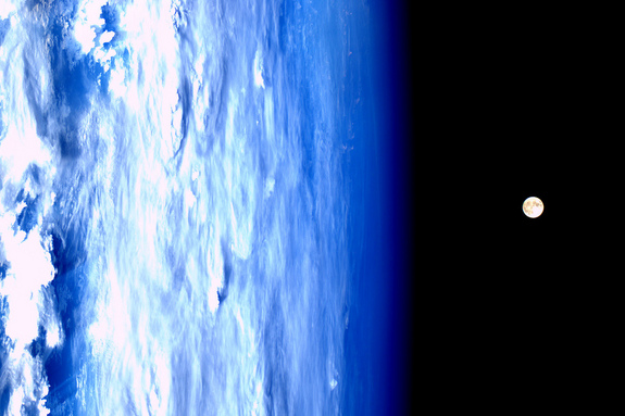 Supermoon as Seen Aboard the International Space Station
