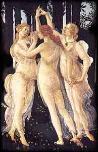 Every Woman is a Goddess: Tantric Sex, Healing, Love, Orgasm, Beauty. Painting 'Primavera' by Botticelli