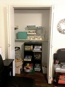 Playroom Closet After