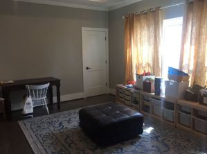 Clean Living Room After Organization in Houston