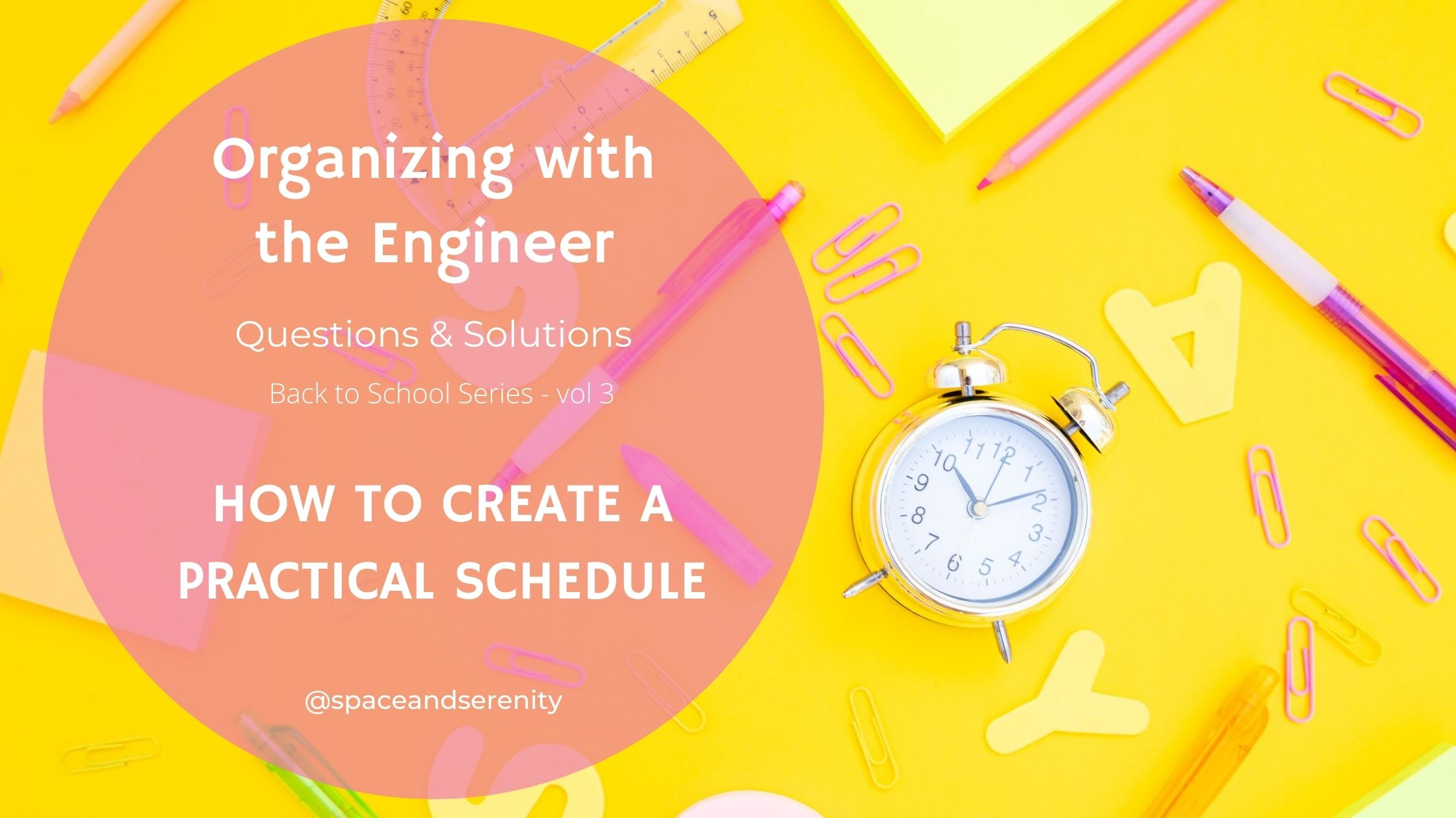 Blog post - Creating a Schedule