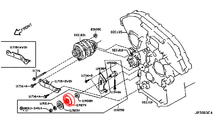 NISSAN 350Z PATHFINDER TERRANO INFINITI FX35 FX45 G35 M35
