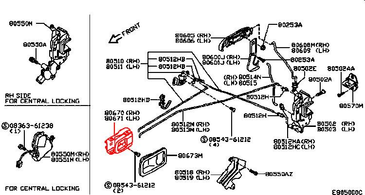 NISSAN MICRA K11 92-03 KLAMKA WEWNĘTRZNA DRZWI PRZEDNICH