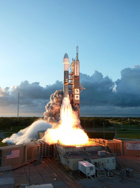 nasa dawn spacecraft launches on united launch alliance delta ii rocket from cape canaveral air force station space complex 17 photo credit posted spaceflight insider 487x655