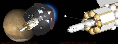 small resolution of artist s impression of a 200 megawatt vasimr spacecraft images credit ad astra rocket