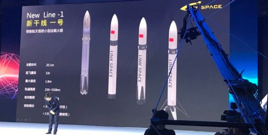 New Line 1 rocket being presented to the public.