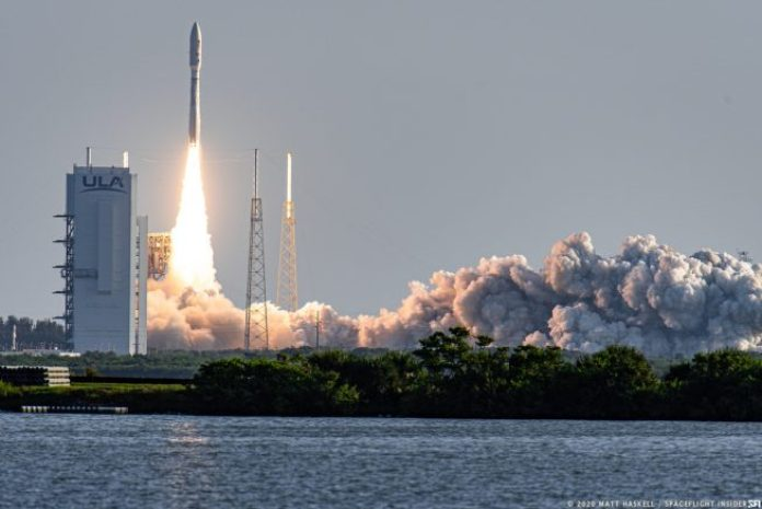 The Perseverance rover and test helicopter Ingenuity departed Earth on July 30, 2020, aboard a ULA Atlas 5 rocket. Photo: Matt Haskell/SpaceFlight Insider