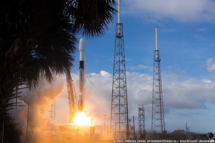 SpaceX launched its first dedicated rideshare mission, Transporter-1, on Jan. 24, 2021. Credit: Theresa Cross / Spaceflight Insider
