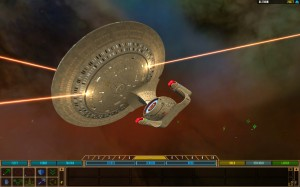 A Galaxy Class ship gets its phasers on!