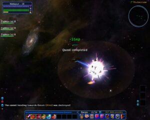 8 - Destroying a Comet Fragment