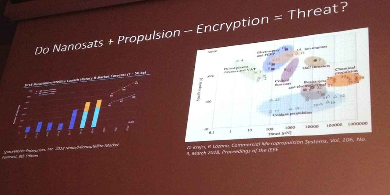 "Should nanosats with propulsion be forced to include encryption? Here's the ""yes"" case"