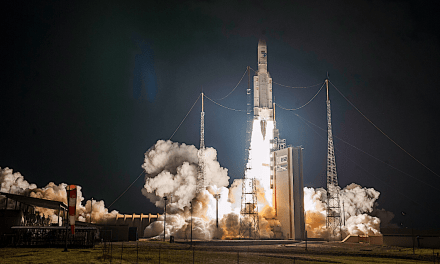 Ariane 5's 100th launch a success for Intelsat, JSat, Azercosmos, and a reminder of an industry in tumult