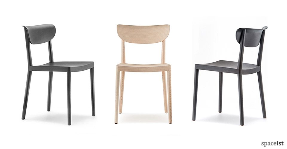 cafe chairs wooden zero gravity reclining outdoor lounge chair archives spaceist tivoli black and natural ash wood