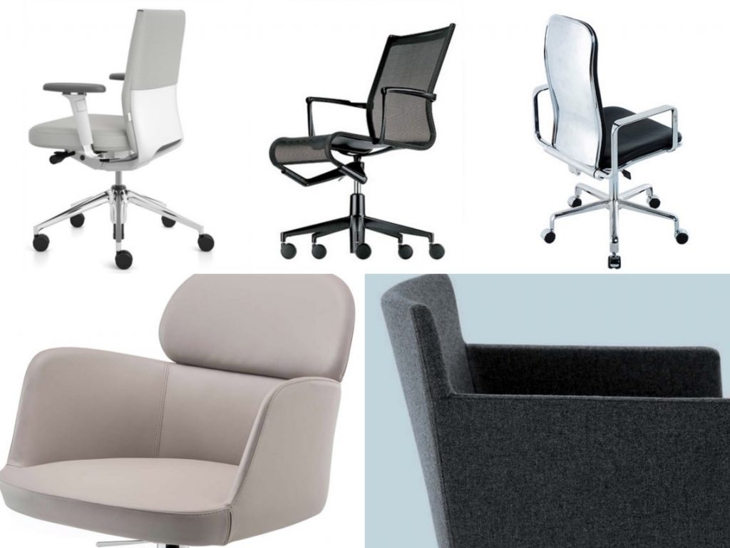 meeting room chairs camping with side table workplace seating office desk by five designers