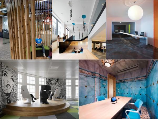 Five Stimulating And Abstract Office Interiors - Spaceist