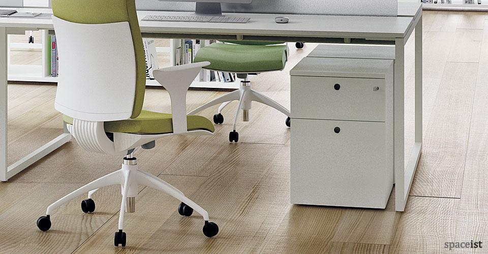 White Storage  Frame under desk storage