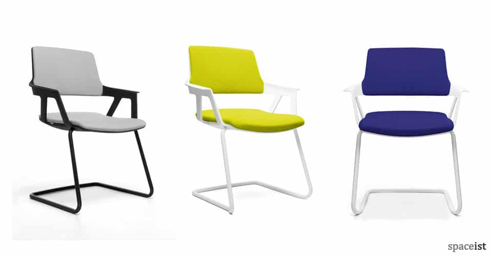 meeting room chairs fishing chair wow loot card ovy cantilever grey lime and blue modern