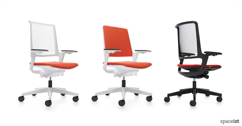 white mesh office chair uk hon volt chairs ovy task orange