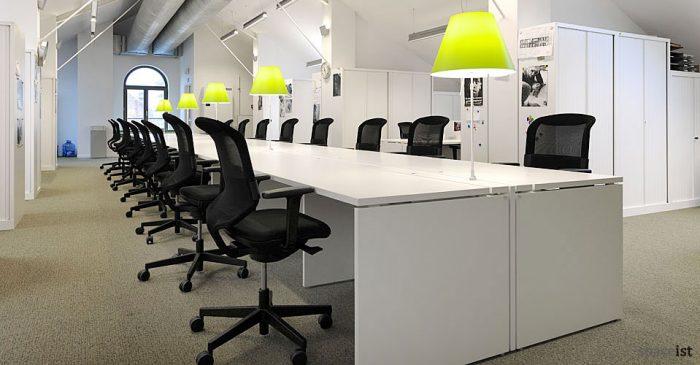 Extra long office desk  white bench desk
