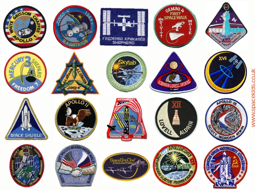 medium resolution of spacesuit mission patches