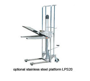 Light Duty Manual Stainless Steel Stackers, 400kg Capacity