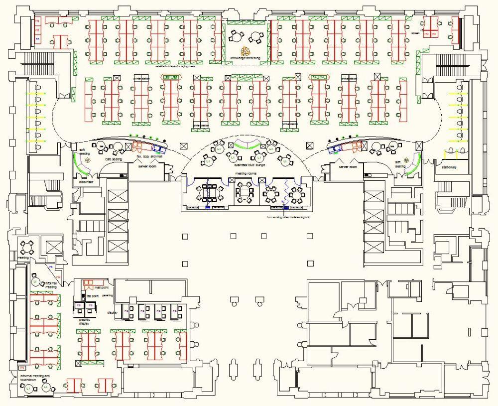 medium resolution of  refurbishment complete redesign of large office