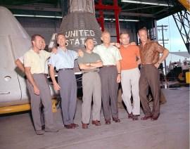 Mercury Capsule and Astronauts