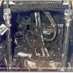 Interior of Apollo 1 Command Module after the fire