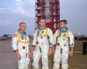 The crew of Apollo 1 (Credits: NASA).