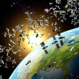 The debris surrounding Earth poses legal as well as physical challenges (Credits: Roger Harris/Science Photo Library).