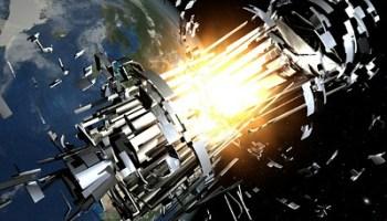 Satellite Collision From Space Debris in Orbit (Edt)