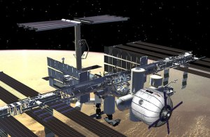 The Bigelow Exmpandable Activity Module (BEAM) on the ISS as it should appear in 2016 (Credits: NASA).