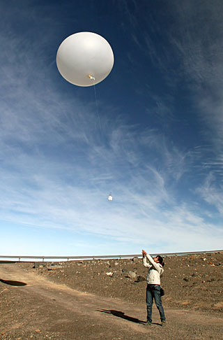 A simple explanation, the UFO sighting was actually a bursting weather balloon (Credits: ESO).