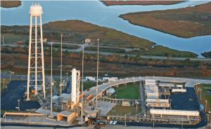 Antares at Wallops Island launch pad (Credits: Orbital Sciences Corporation).