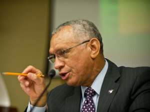 NASA Administrator Charles Bolden tells Congress what's what at a March 19 hearing on asteroid preparedness (Credits: AFP).