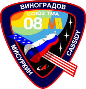 Soyuz TMA-08M mission patch (Credits: SpacePatches.nl)