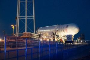 Antares rocket moved (Credits: NASA).