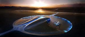 Spaceport America is located in Jornada del Muerto desert. It was officially opened on October 8, 2011 (Credits: Virgin Galactic).