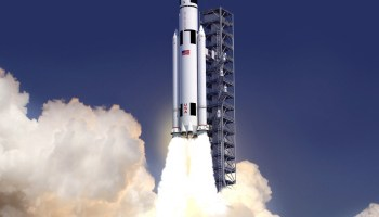 Artist conception of NASA SLS launch