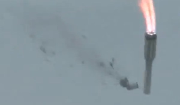 Live footage of Proton-M launch failure on July 1, 2013 (Credits: TSENKI).