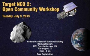 Target NEO Workshop held by the National Academy of Sciences explored the lack of target candidates for an asteroid retrieval mission (Credits: NAS).